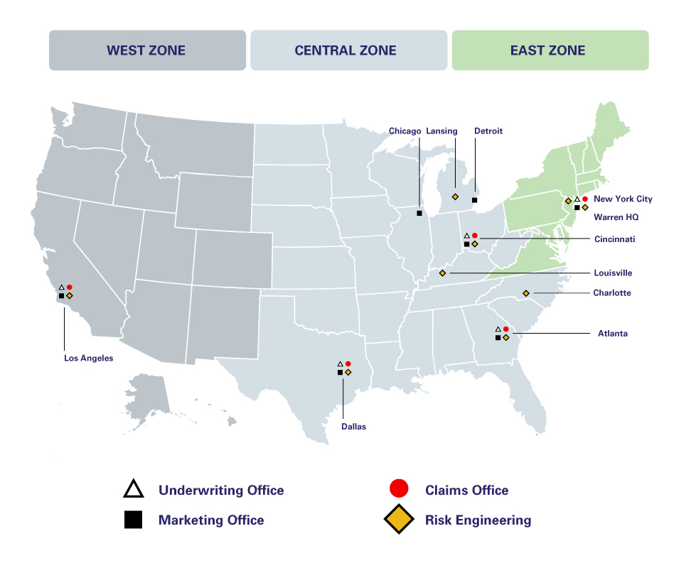 Zones Map